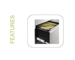 Steel Lateral Filing Cabinet 2 Drawer - Upgrade features
