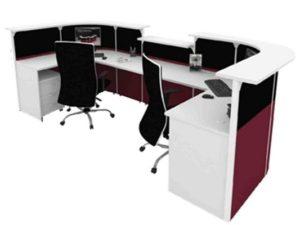Office Reception Front Desk Table OFMFO9111 Furnitures Malaysia Selangor  Kuala Lumpur2