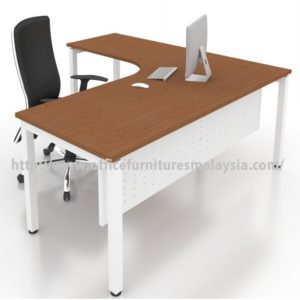 Office Modern L Shape Table Desk OFMN1818L furniture malaysia klang valley kuala lumpur shah alam1