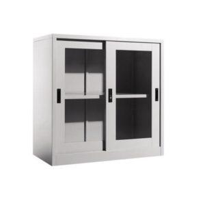 Half Height Cupboard with Sliding Glass Doors office furniture selangor shah alam kaula lumpur malaysia