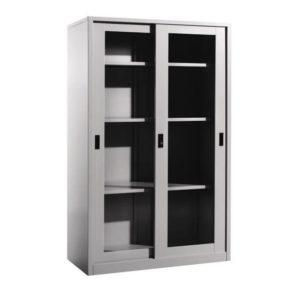 Steel Full Height Cupboard with Sliding Glass Doorsoffice furniture selangor shah alam kaula lumpur malaysia1