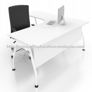 Office Executive Writing Table L Shape AL1215 furniture selangor shah alam damasara puchong ampang kuala lumpur