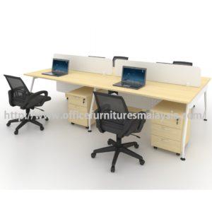 Modern Office Partition Team Workstation 4 Table Set OFMQA1270 selangor kuala lumpur petaling jaya shah alam klang valley ampang1