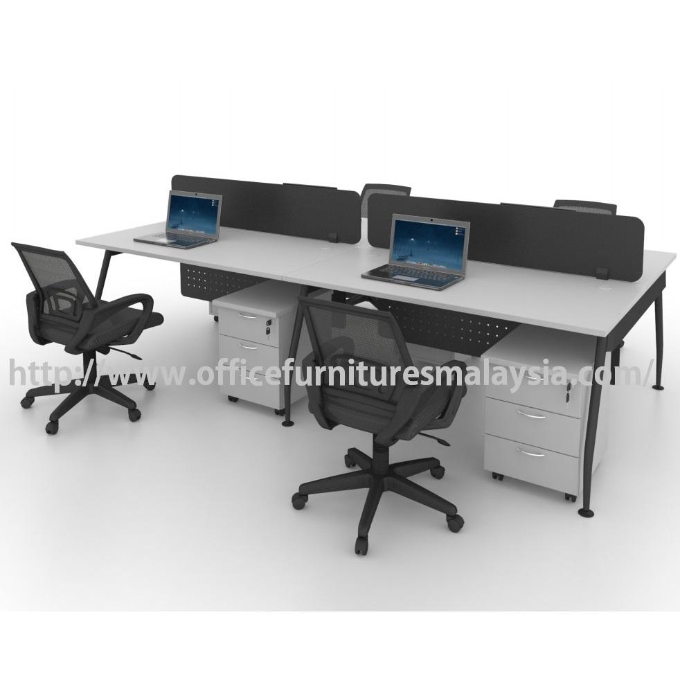 Modern Office Partition Team Workstation 4 Table Set OFMQA1270 selangor kuala lumpur petaling jaya shah alam klang valley ampang5
