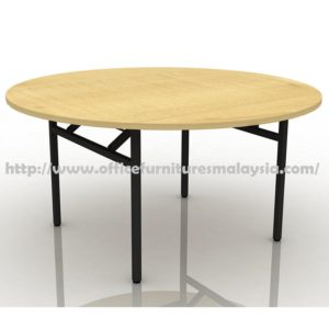 4ft Round Folding Banquet Table maple walnut cheap price furnitures malaysia kuala lumpur selangor shah alam petaling jaya klang valley mont kiara cheras1
