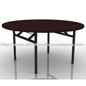 4ft Round Folding Banquet Table maple walnut cheap price furnitures malaysia kuala lumpur selangor shah alam petaling jaya klang valley mont kiara cheras