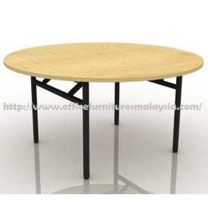 6ft Round Folding Banquet Table maple walnut cheap price furnitures malaysia kuala lumpur selangor shah alam petaling jaya klang valley mont kiara cheras1