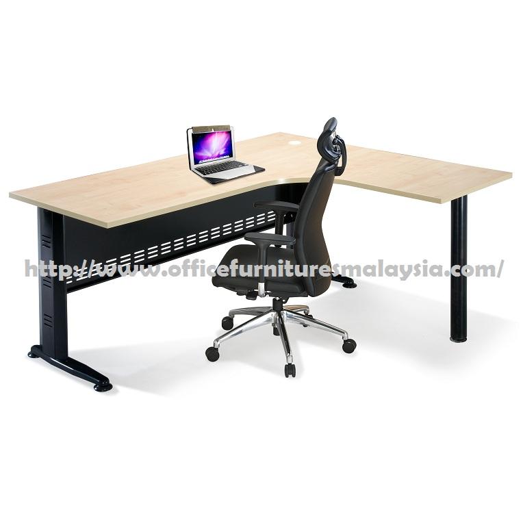 6ft x 5ft simple l shape table desk ofmq1815 office for Cheap modern furniture kuala lumpur