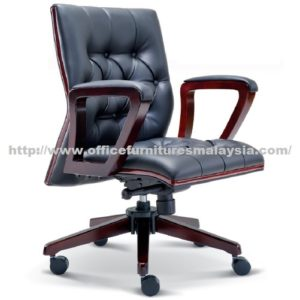 Manager Classic Wooden Lowback Chair OFME2322H office furniture online shop malaysia selangor klang bangi setia alam USJ Mont Kiara Sungai Besi sunway subang