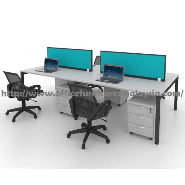 6ft modern office partition workstation 4 table set for Cheap modern furniture kuala lumpur