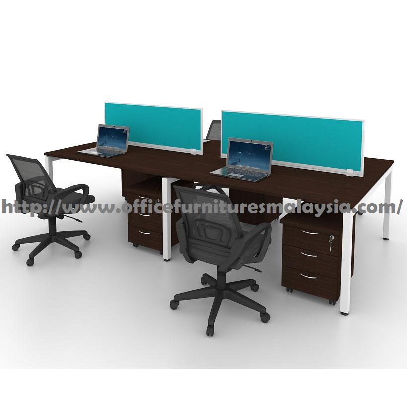 6ft Modern Office Partition Workstation 4 Table Set OFMN1670 selangor kuala lumpur shah alam petaling jaya4