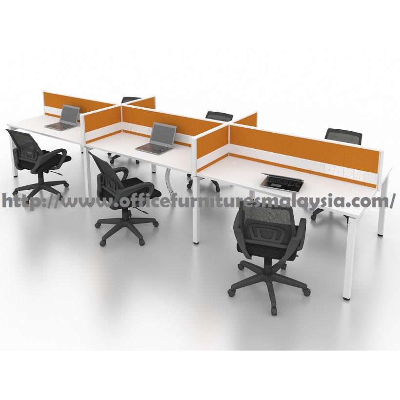 4ft Office Modern Cubicle Partition 6 Table Set OFMN61275 batu caves selayang sungai buloh shah alam