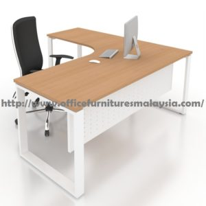 5ft x 4ft L Shaped Executive Manager Table SL1512 design moden furniture malaysia PJ KL