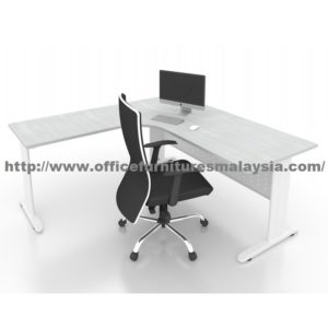 5ft x 5ft Office L Shaped Manager Table JL1515 shah alam puchong damansara bangsa