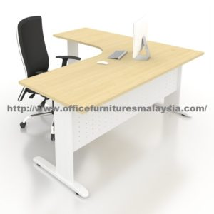 6ft x 5ft Office L Shaped Manager Table JL1815 putrajaya bangi cyberjaya kajang