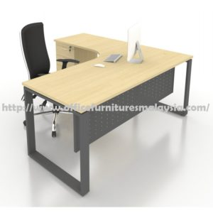 6ft x 5ft Office L Shaped Table with Drawer SLD1815 furniture malaysia shah alam damansara KL
