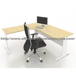 6ft x 6ft Office L Shaped Manager Table JL1818 mont kiara cheras ampang rawang balakong