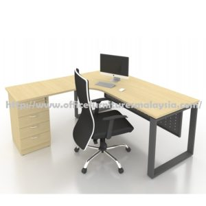 6ft x 6ft Office L Shaped Table with Drawer SLD1815 furniture malaysia petaling jaya cyberjaya putrajaya KL