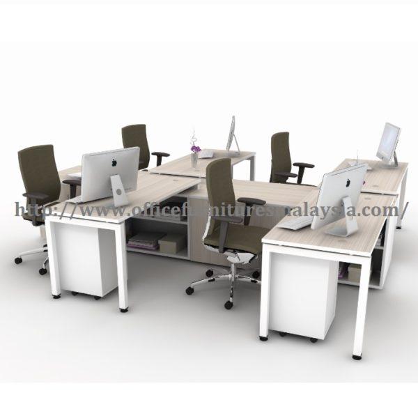 5ft Administrative Workstation 4 Table Set Workstation Pentadbiran meja Klang valley selangor kuala lumpur petaling jaya shah alam