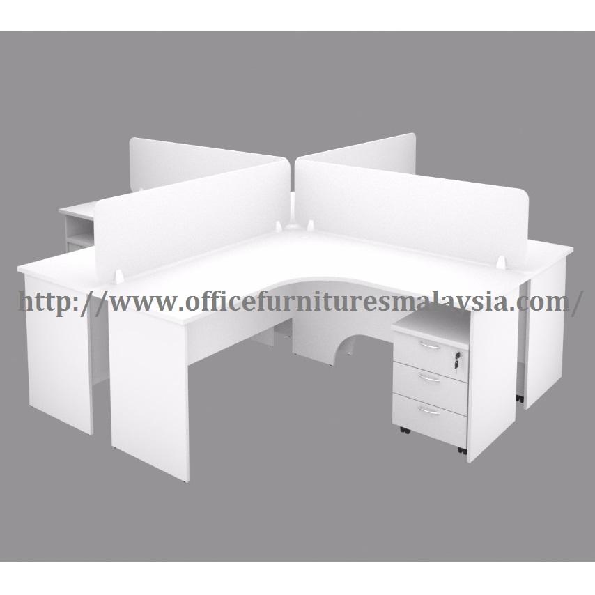 Modular Workstations 5ft x 5ft Office L Shape Table OFMH1515 shah alam damansara kuala lumpur1
