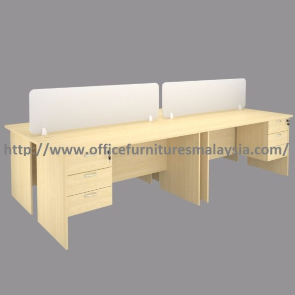 4ft Modern design 4 seats office workstation divider Shah alam price malaysia putrajaya bangi