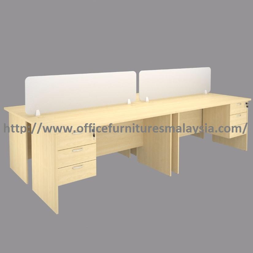 Modern design 4 seats office workstation divider perabot for Cheap modern furniture kuala lumpur