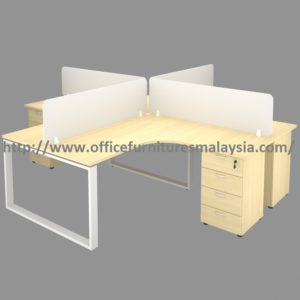 5ft x 5ft 4 Seater Modular Office Workstation Desk Set table design layout malaysia puchong selangor Bukit Jalil 1
