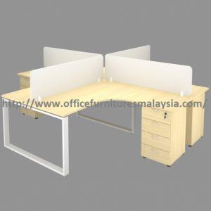 5ft X 4 Seater Modular Office Workstation Desk Set Ofts1515
