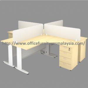 5ft x 5ft L Shaped Workstation with Divider for 4 Seater staff harga perabot malaysia selangor shah alam 1