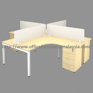 5ft x 5ft Modern Design Open Concept Workstation Divider With Drawer office furniture malaysia selangor puchong