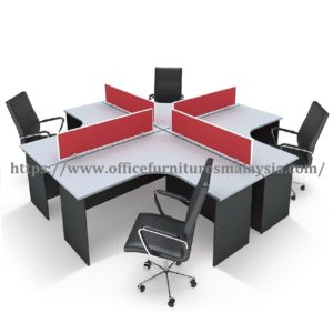 5ft x 5ft Office Budget Workstation L Shape Table Fabric Partition shah alam sepang kuala lumpur damansara