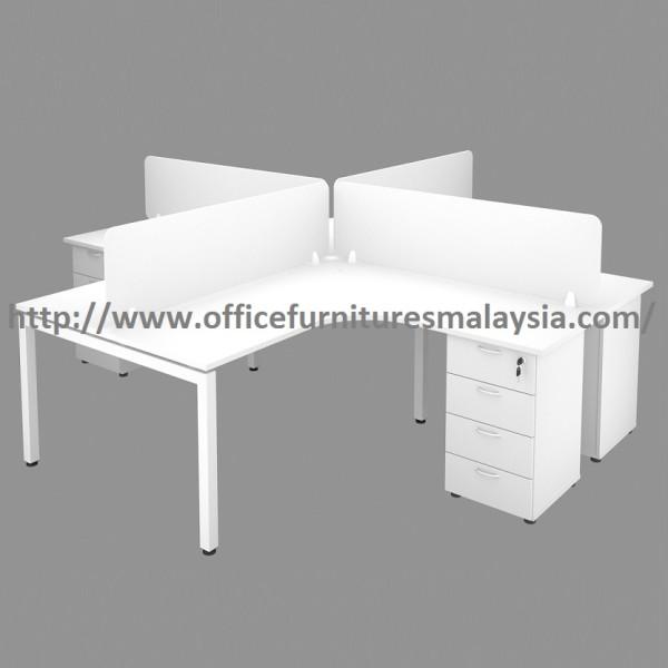5ft x 5ft Office Desking Workstation 4 Desk Set OFHN1515 KL Shah Alam 1-1