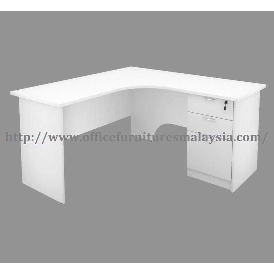 ... 5ft X 5ft White Office Table Desk L Shaped Meja Pejabat Shah Alam  Putrajaya Cyberjaya Bangi