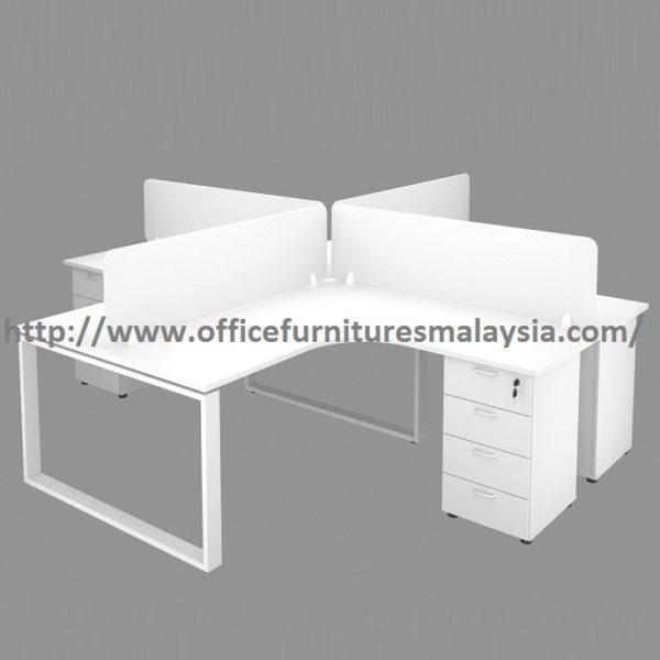 6ft x 6ft Office Divider Partition Workstation Table Set wangsa maju gombak bangsa
