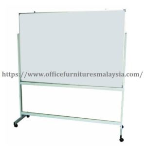 4ftx8ft Single Side Magnetic White Board With Mobile Stand magnetic whiteboard with stand malaysia Rawang Sungai Buloh Kepong