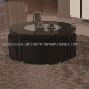 Black Round Coffee Table With Seating Underneath office furniture price malaysia batu caves gombak bukit jalil1a