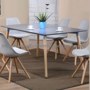 Contemporary Dining Table Wooden Leg YGRTD 872GY W