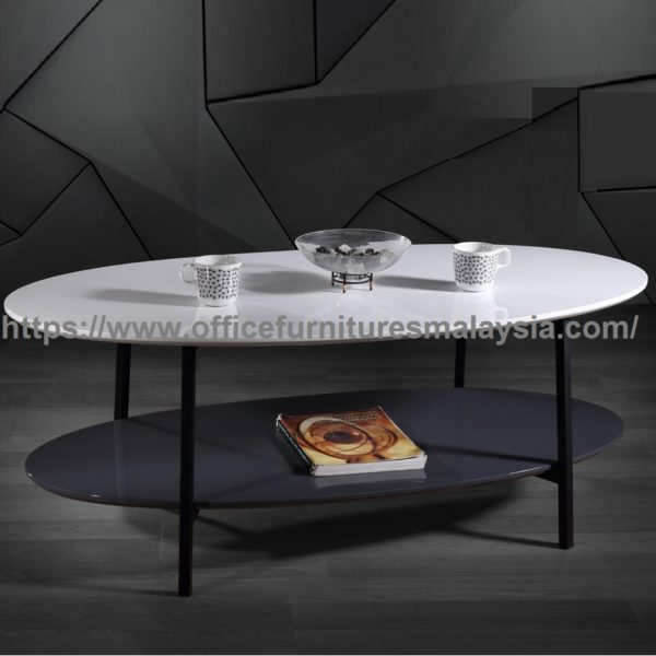 Oval Coffee Table Malaysia: Oval Coffee Table With Storage