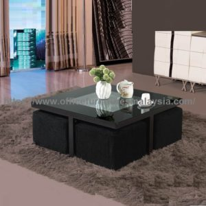 Square Coffee Table With Black Sofa Stools Underneath office furniture malaysia mont kiara ampang cheras2a