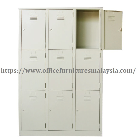 3 Compartment Steel Locker steel furniture manufacturer malaysia kuala lumpur klang valley