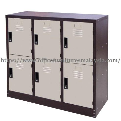 6 Compartment Half Height Steel Locker malaysia shah alam petaling jaya putrajaya1