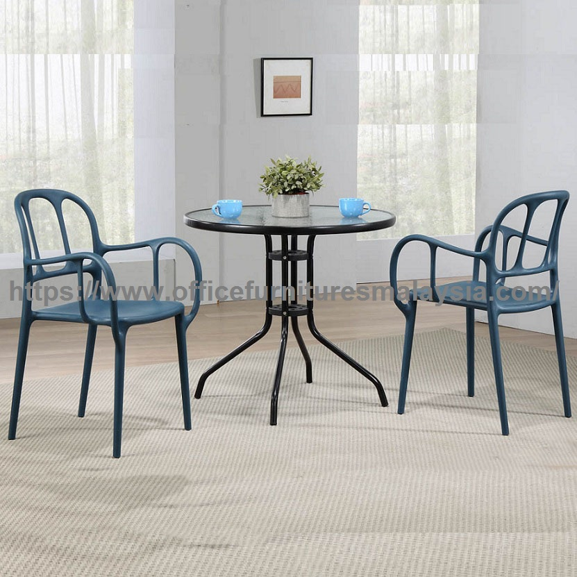Glass Top Dining Table And Polypropylene Chair Set Office - Dining table and chair set sale