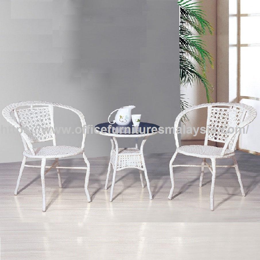 Luxury Fully White Garden Furniture Set Modern Outdoor Furniture