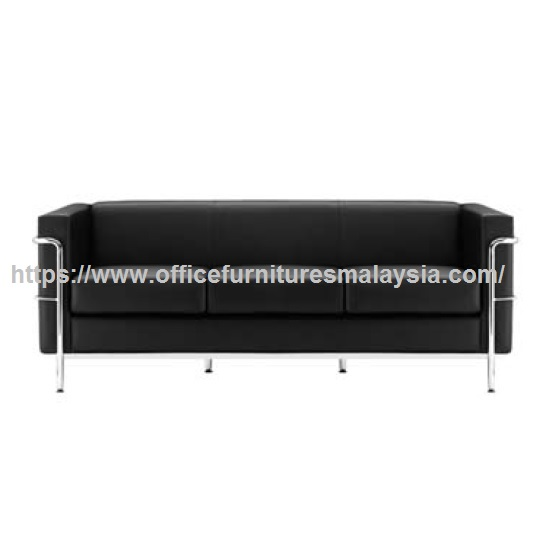 Contemporary Office Waiting Room Triple Seater Sofa Modern Sofa