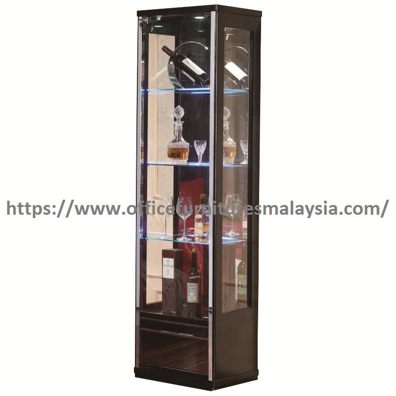 6 3ft Locking Led Gl Display Cabinet