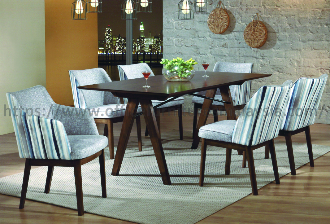 6 ft 6 Seater Solid Wood Rectangular Dining Table Set ...